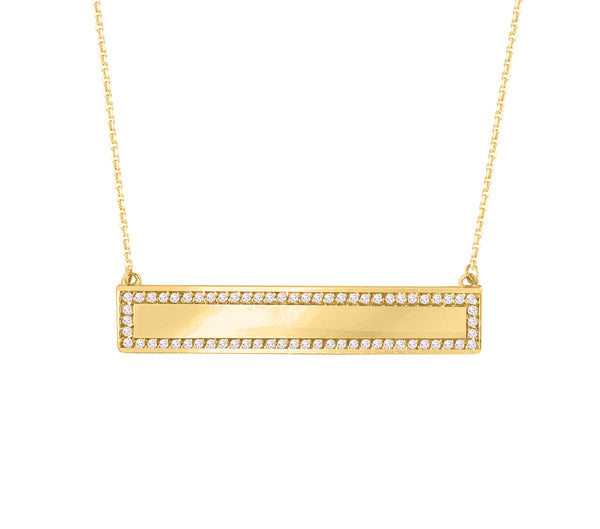 Diamond Bar Necklace - Michael E. Minden Diamond Jewelers