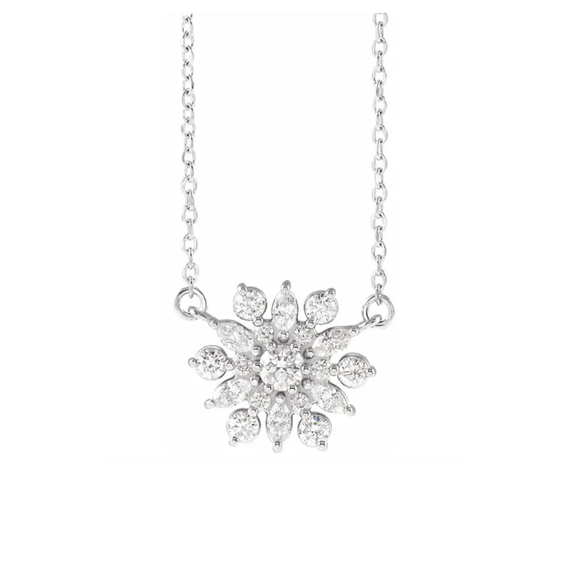 14K Vintage-Inspired Diamond Necklace - Michael E. Minden Diamond Jewelers