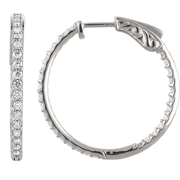 Inside-Out Diamond Hoops - Michael E. Minden Diamond Jewelers