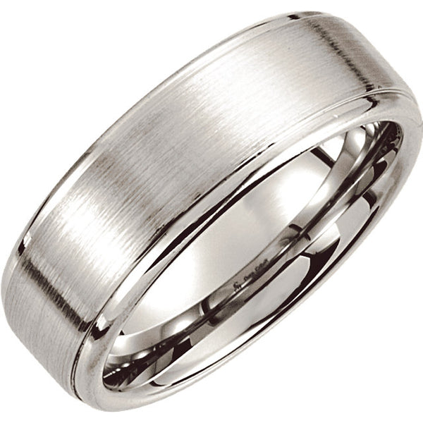 Cobalt Slightly Ridged Men's Wedding Ring - Michael E. Minden Diamond Jewelers