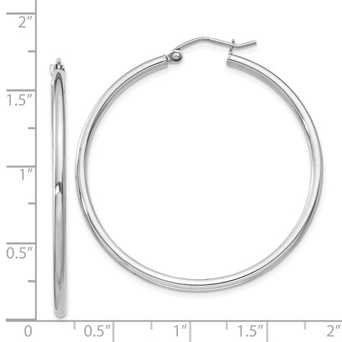 Large Classic Sterling Silver Hoops (2mm Thickness) - Michael E. Minden Diamond Jewelers
