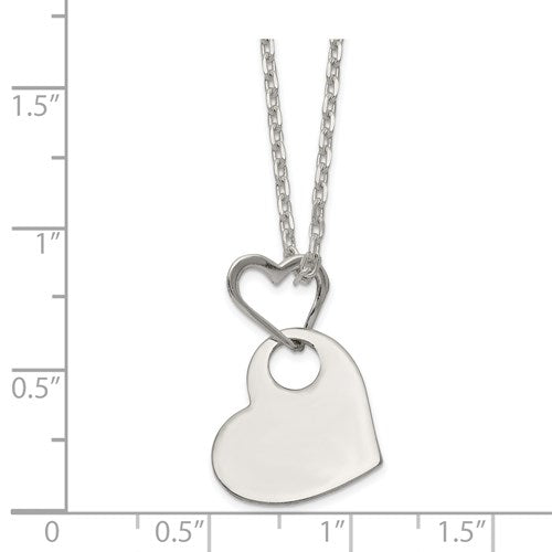 Heart Holding Heart Necklace - Michael E. Minden Diamond Jewelers