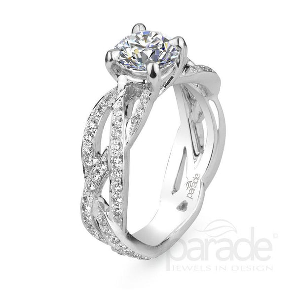 Braided Diamond Engagement Ring - Michael E. Minden Diamond Jewelers