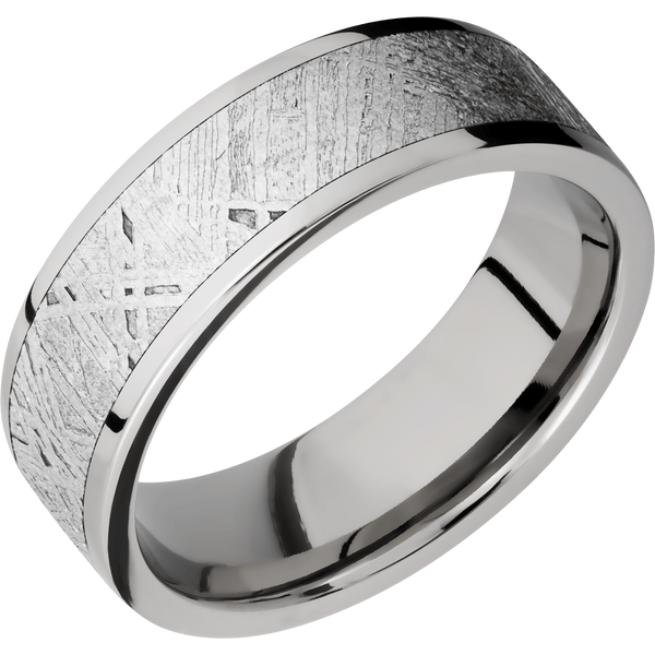 Titanium with Meteorite Men's Wedding Ring