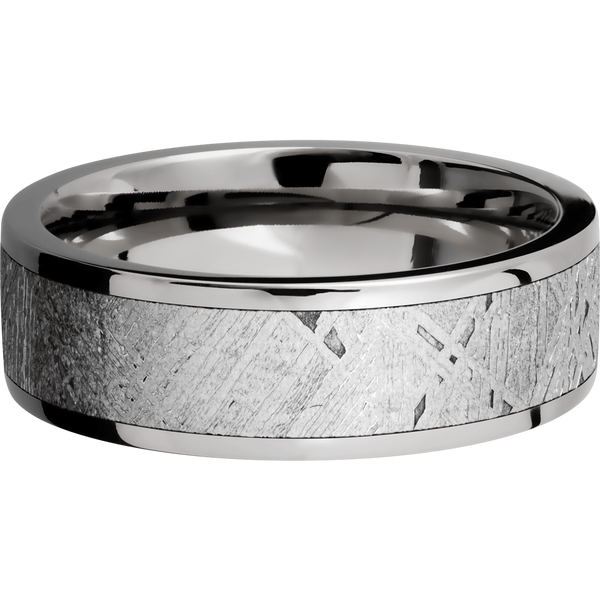 Titanium with Meteorite Men's Wedding Ring - Michael E. Minden Diamond Jewelers