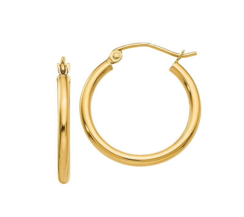 14K Classic Hoops - Michael E. Minden Diamond Jewelers