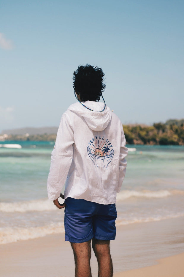 Limited Edition - Sun Will Rise Beach Linen Hoodie