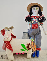 Farm Girl and Lactose The Cow
