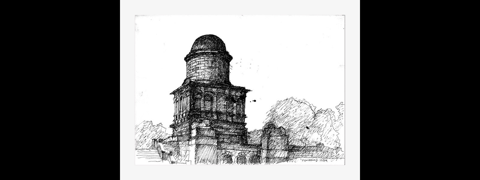 HAMILTON MAUSOLEUM, Etching: Limited Edition of 20