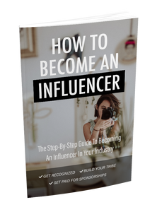 How to Become an Influencer // Instant Download eBook