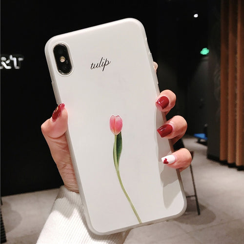 Spring Floral Silicone iPhone Case
