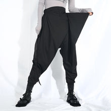 Load image into Gallery viewer, Ultra High Waist Black Ribbon Harem Pants
