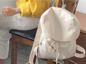Simple Canvas Backpack