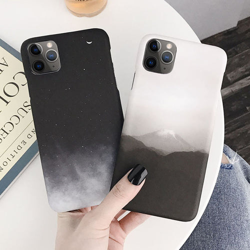 Black+White Monochrome iPhone Case