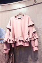 Load image into Gallery viewer, Pink Ruffles Sweatshirt
