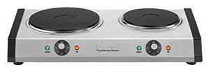 Cuisinart CB-60 Cast-Iron Double Burner, Stainless Steel