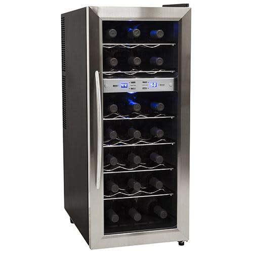 EdgeStar TWR215ESS 21 Bottle Freestanding Dual Zone Stainless Steel Wine Cooler