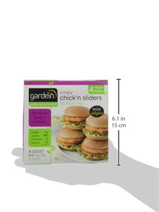 Gardein Mini Chick'n Sliders, Meatless Protein Packed Sandwiches, Breaded, Ready in 3 Minutes, 4 Pack (Frozen)