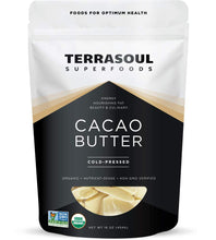 Load image into Gallery viewer, Terrasoul Superfoods Organic Cacao Butter, 1 Lb - Raw | Keto | Vegan | Unrefined