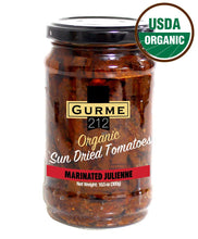 Load image into Gallery viewer, Gurme212 Organic Marinated Sun-dried Tomatoes (10.5 oz Julienne Cut)
