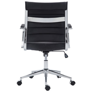 Poly and Bark Tremaine Office Chair in Vegan Leather, Black