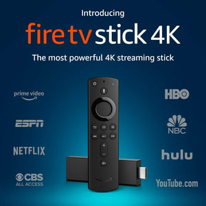 Fire TV Stick 4K with Alexa Voice Remote, streaming media player