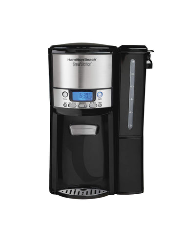 Hamilton Beach (48464) Coffee Maker with 12 Cup Capacity & Internal Storage Coffee Pot, Brewstation, Black