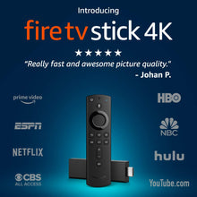 Load image into Gallery viewer, Fire TV Stick 4K with Alexa Voice Remote, streaming media player