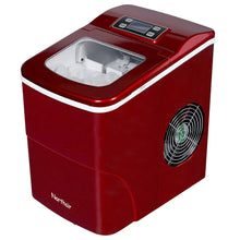 Load image into Gallery viewer, Northair Countertop Ice Maker Machine Up to 26lbs/Day with LCD Display, Portable Compact Electric Ice Machine - 9 Ice Cube Making in 6 Minutes for Parties, RV, Camping Vacations and Boat Trips (Red)
