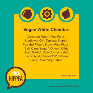 HIPPEAS Organic Chickpea Puffs + Vegan White Cheddar | 4 ounce, 6 count |