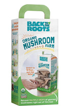 Load image into Gallery viewer, Back To The Roots Organic Mushroom Growing Kit, Harvest Gourmet Oyster Mushrooms In 10 days, Top Gardening Gift, Holiday Gift, & Unique Gift