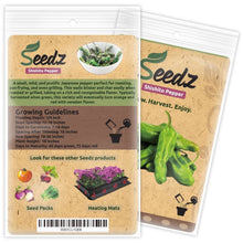 Load image into Gallery viewer, Organic Pepper Seeds (APPR. 55) Shishito Pepper - Heirloom Vegetable Seeds - Certified Organic, Non-GMO, Non Hybrid - USA