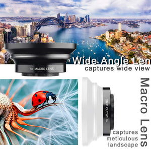 "BESUNGO 4K Camcorder, Video Camera, Live Streaming Vlogging YouTube Recorder Camera 60FPS 48MP Ultra HD WiFi IR Night Vision 3.0"" IPS Touch Screen with Microphone, Wide Angle Lens, LED Video Light"