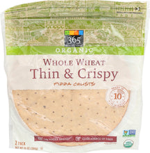 Load image into Gallery viewer, 365 Everyday Value, Organic Whole Wheat Thin & Crispy Pizza Crusts, 2 ct