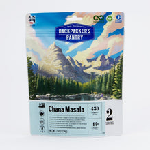 Load image into Gallery viewer, Backpacker's Pantry Chana Masala, 2 Servings Per Pouch, Freeze Dried Food, 14 Grams of Protein, Vegan, Gluten Free