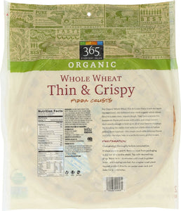 365 Everyday Value, Organic Whole Wheat Thin & Crispy Pizza Crusts, 2 ct