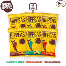 Load image into Gallery viewer, HIPPEAS Organic Chickpea Puffs + Variety Pack | 4 ounce, 6 count |