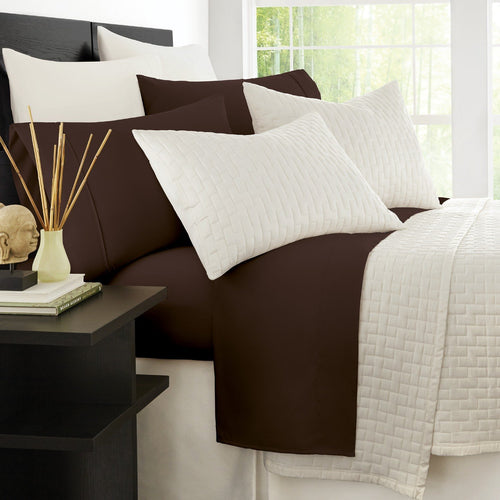 Zen Bamboo Luxury 1500 Series Bed Sheets - Eco-Friendly, Hypoallergenic and Wrinkle Resistant Rayon Derived from Bamboo - 4-Piece - Full - Brown