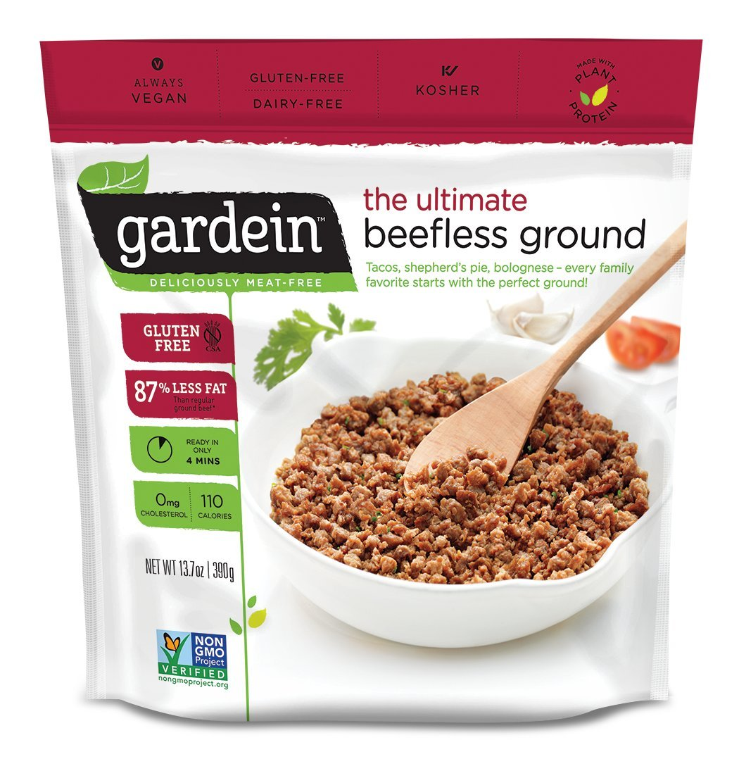 Gardein Ultimate Beefless Ground Meatless Protein Packed Beef Substitute, Gluten Free, Non-GMO Project Verified, 13.7 Ounce (Frozen)