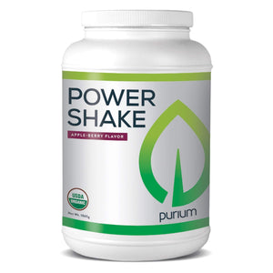 Purium Power Shake - Apple Berry Flavor - 1065 grams - Vegan Meal Replacement Powder, Protein, Vitamins & Minerals - Certified USDA Organic, Gluten Free, Kosher - 30 Servings