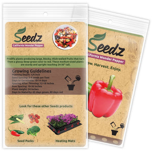 Organic Pepper Seeds (APPR. 75) Red & Green Bell Pepper - Heirloom Vegetable Seeds - Certified Organic, Non-GMO, Non Hybrid - USA