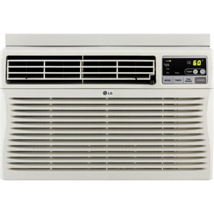 LG 24,500 BTU Eco-Friendly Window Mounted Air Conditioner, (230-Volt Plug), with 3 Cooling and 3 Speed Modes, 12-Hour On/Off Timer, Easy Clean Mesh Filter, Energy Saver Function with Eco Friendly R410A Refrigerant, Fully Functional Remote Included, Perfec