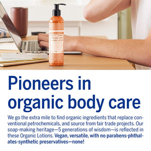 Dr. Bronner's Organic Lotion for Hands & Body - Peppermint, 8 Oz