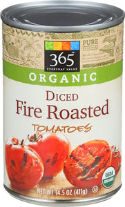 365 Everyday Value, Organic Diced Tomatoes, Fire Roasted, 14.5 oz