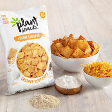 Load image into Gallery viewer, Plant Snacks VEGAN Cheddar Mix Cassava Root Chips, Vegan, Big-8 Allergen Free, Non-GMO Project Verified, Gluten Free, Grain Free, No Added Sugar, 5 oz Bags, Pack of 3