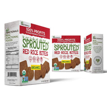Load image into Gallery viewer, Biofunctionals Organic Sprouted Red Rice Snacks, Gluten Free & Vegan Crackers, 3.5 Ounce Box