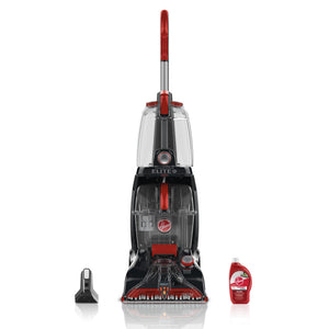 Hoover Power Scrub Elite Pet Upright Carpet Cleaner and Shampooer, Lightweight Machine, Red, BH50251PC