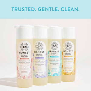 The Honest Company Purely Simple Fragrance-Free Shampoo + Body Wash | Tear-Free Baby Shampoo with Naturally Derived Ingredients | Sulfate- & Paraben-Free Baby Bath | 10.0 Fl. Ounces