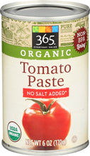 Load image into Gallery viewer, 365 Everyday Value, Organic Tomato Paste, No Salt Added, 6 oz