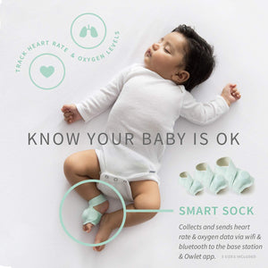 Owlet Smart Sock + Cam - Heart Rate, Oxygen, Video & Audio - The Complete Baby Monitor Solution